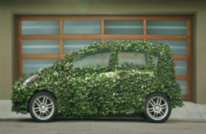 Green Car with Garage