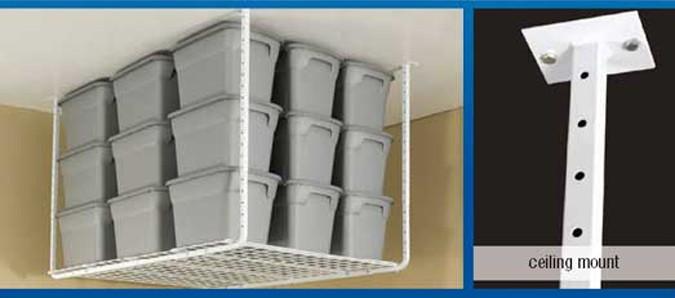 Nice HyLoft 60 X 45 Ceiling Mounted Shelf