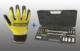 52 Pc Socket set & a Set of Work Gloves