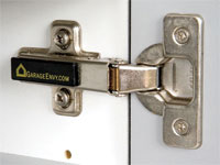 Concealed European-style door hinges