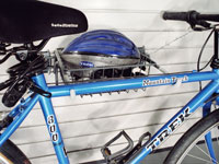 Slatwall bike rack and Basket Acessories