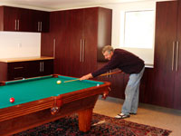 Garage Remodel, pool table and garage cabinets