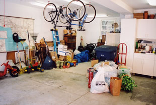 Garage clutter Before