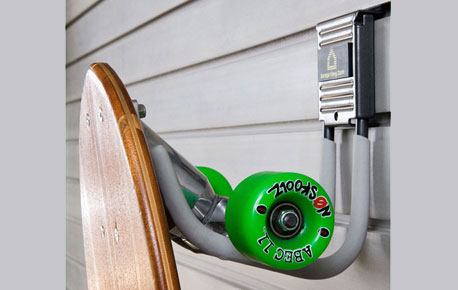 Slatwall Skateboard Storage Accessories