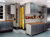 Slatwall Cabinet and Tool Storage