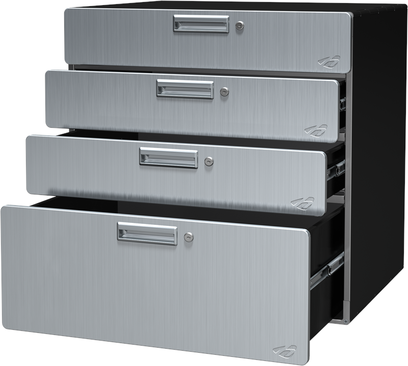 30 Inch Solo Quadro Storage Drawer Stainless Steel Cabinet