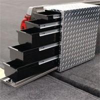 6-ft. Bed Left Side, 5 Drawer Storage Drawer in Brite Diamond