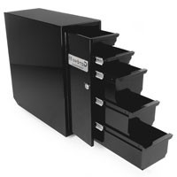 6-ft. Bed Right Side, All Steel 5 Drawer Storage Drawer in Powder Coat Black