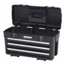 3-Drawer Plastic/Metal Portable Chest