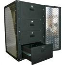 1 Door, 4 drawer Wall Cabinet with Rack