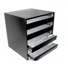 4-Drawer Open View Display Cabinet with Plastic Inserts