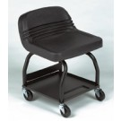 Large Padded Mechanics Seat with Storage Pan