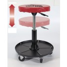 Round Adjustable Seat with Storage Pan