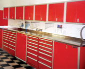 Stainless Steel Workbench Tops and Cabinets